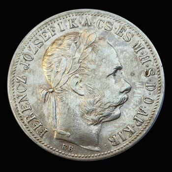 Ferenc József 1 Forint 1890 KB Fiume címerrel