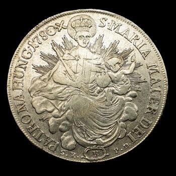 Mária Terézia ezüst tallér 1780 B S.K.-P.D.