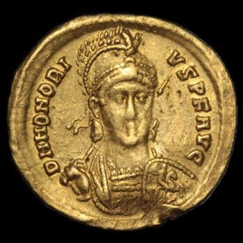 Honorius bizánci császár (Kr.u.393-423) - Arany solidus