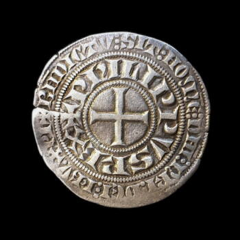 IV. Fülöp francia király ezüst érme - gros tournois a l'o rond