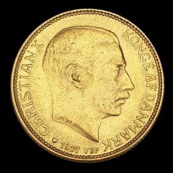 20 Kroner 1917 VBP dán arany érme