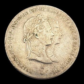 Házassági ezüst 1 Gulden 1854 A