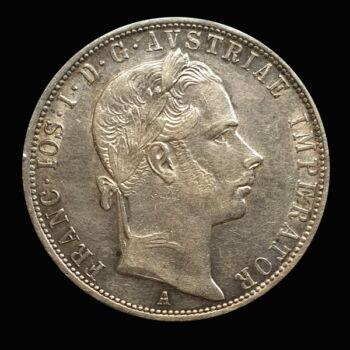 Ferenc József 1 Florin 1858 Bécs