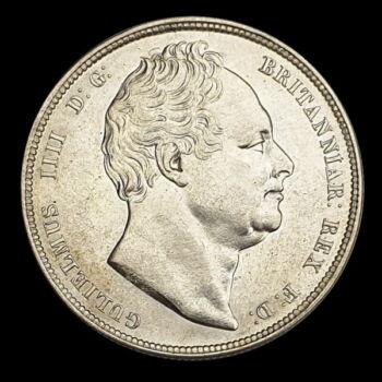 Ezüst 1/2 Crown 1836 IV. Vilmos brit király arcképével