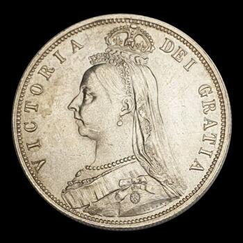Halfcrown 1887 Viktória brit királynő képével