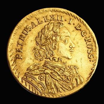 Péter cár arany dukát 1716 utánveret