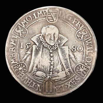 Szász ezüst tallér Friedrich Wilhelm és Johann 1580