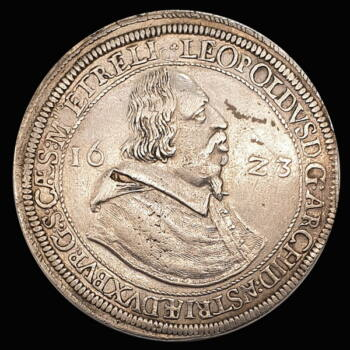 V. Lipót osztrák főherceg ezüst tallér 1623