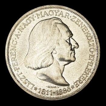 """2 Pengő 1936 """"Liszt Ferenc"""""""