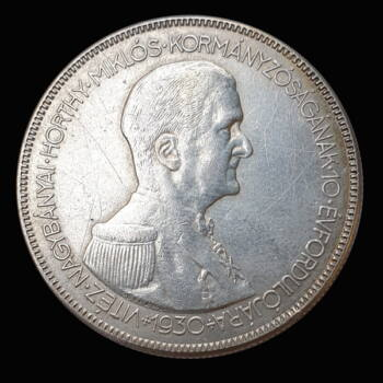 Ezüst 5 Pengő 1930 Horthy jobbra