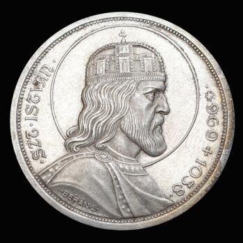 Ezüst 5 Pengő 1938 Szent István