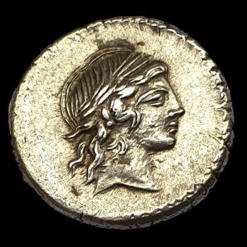 Római Köztársaság kori ezüst érme - L. Marcius Censorinus ezüst denár
