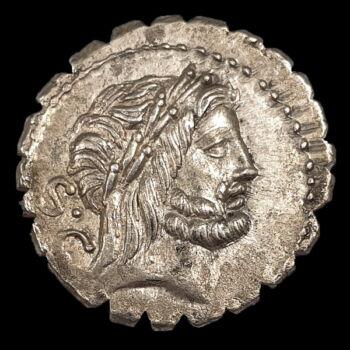 Római Köztársaság kori ezüst érme - Antonius Balbus denár