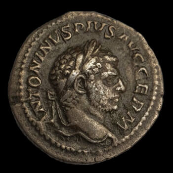 Caracalla római császár (Kr.u. 198-217) ezüst denár