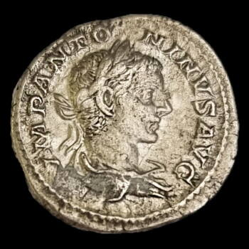 Elagabalus római császár (Kr.u. 218-222) ezüst denár - IOVI CONSERVATORI