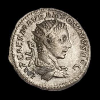 Elagabalus római császár (Kr.u. 218-222) ezüst antoninianus - FIDES EXERCITVS