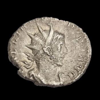Gallienus római császár (Kr.u. 253-268) ezüst antoninianus - DEO MARTI