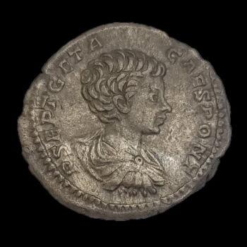 Geta római császár (Kr.u.211) ezüst denár - VICT AETERN