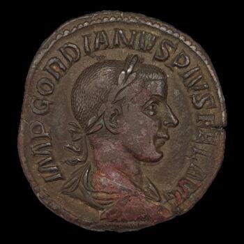 III. Gordianus római császár bronz sestertius