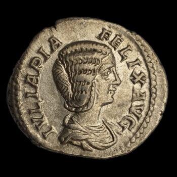 Julia Domna római császárné (Kr.u. 211-217) ezüst denár - MATRI DEVM
