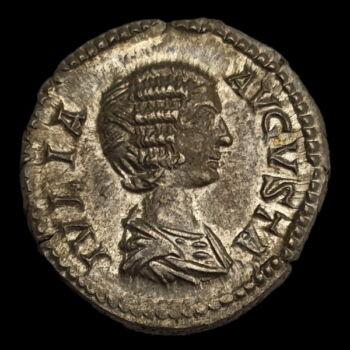 Julia Domna római császárné (Kr.u. 211-217) ezüst denár - PIETAS AVGG