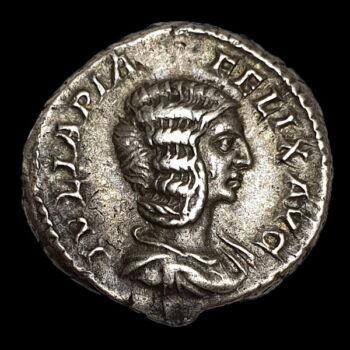 Julia Domna római császárné ezüst denár