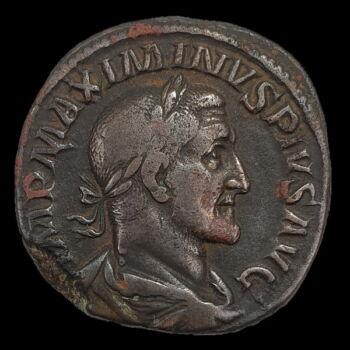 Maximinus Thrax római császár bronz sestertius
