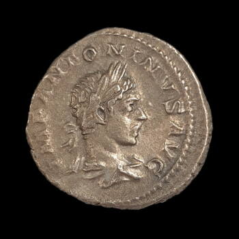 Római ezüst érme - Elagabalus császár ezüst denár