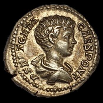 Római ezüst érme - Geta ezüst denár