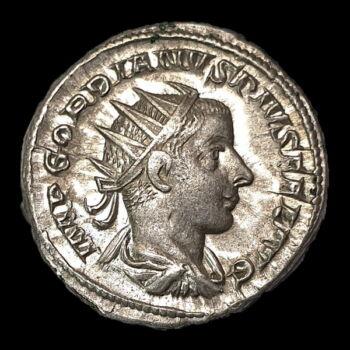 Római ezüst érme - III. Gordianus császár ezüst antoninianus