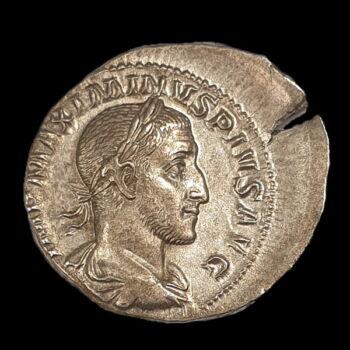 Római ezüst érme - Maximinus Thrax császár ezüst denár