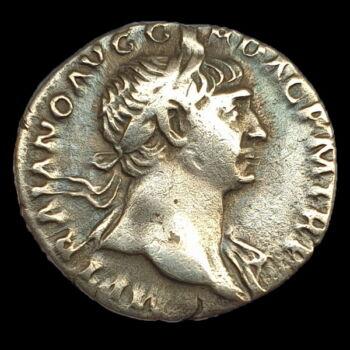 Római ezüst érme - Traianus császár ezüst denár