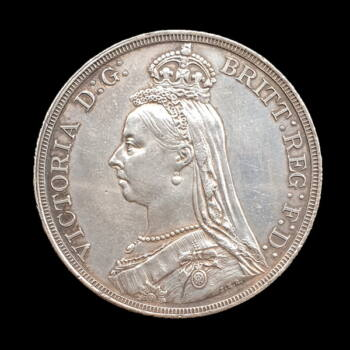 Victoria ezüst Crown 1887 Egyesült Királyság