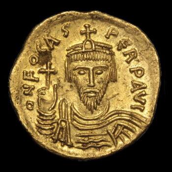 Phocas bizánci császár (Kr.u.602-610) - Arany solidus