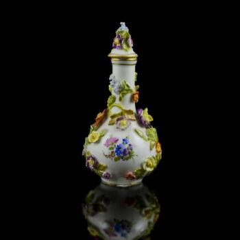 Drezdai porcelán fedeles váza