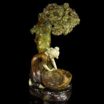 Goldscheider figurális asztali lámpa