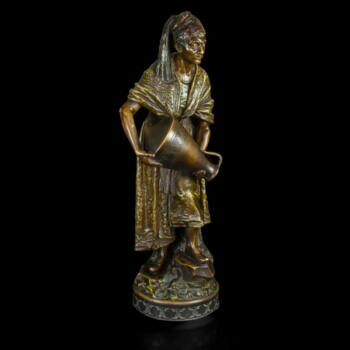 Goldscheider fajansz vízhordó figura