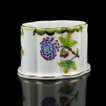 Herendi porcelán Viktória mintás cigarettakínáló