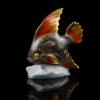 Herendi porcelán hal figura