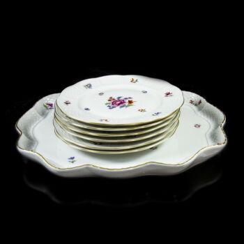 Herendi Nanking mintás 6 személyes desszertes készlet