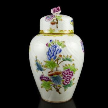 Herendi Viktória mintás (VBO) fedeles váza 1943