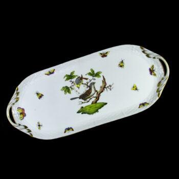 Herendi porcelán Rothschild mintás süteményes tálca
