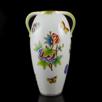 Herendi porcelán Viktória mintás kétfüles váza