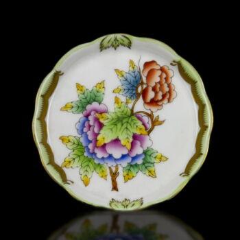 Herendi porcelán Viktória mintás kerek tálka