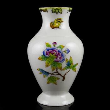 Herendi porcelán Viktória mintás váza