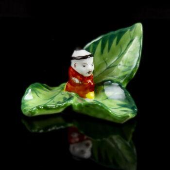 Herendi porcelán kínai figura levélen (1943)