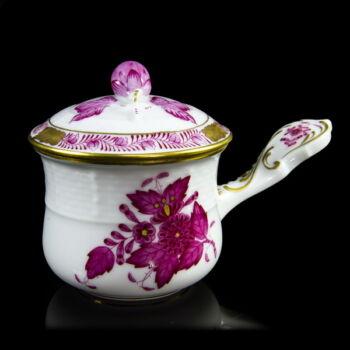 Herendi porcelán pink Apponyi mintás füles tejkiöntő
