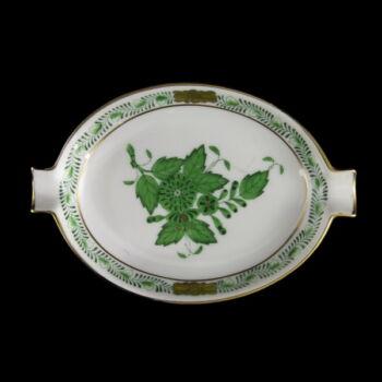 Herendi zöld Apponyi mintás hamutálka