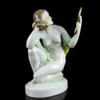 Herendi porcelán női akt tükörrel