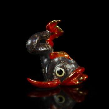 Herendi kínai delfin figura